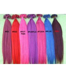 Włosy naturalne 100% REMY kolorowe pasemka 50cm