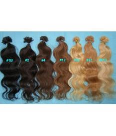 Włosy naturalne lekkie fale 100% REMY europejskie pasemka 50cm