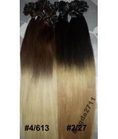 Włosy naturalne OMBRE 100% REMY europejskie CLIP-IN 50cm