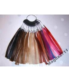 Próbnik kolorów włosy naturalne 100% REMY